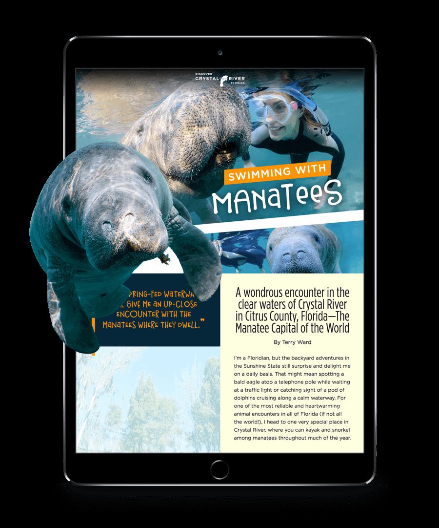 Manatee Story in iPad