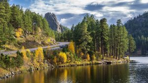 Landscape view of Horse Thief Lake in South Dakota